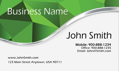 Green Personal Business Card - Design #1201882