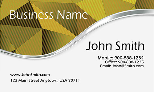 Yellow Personal Business Card - Design #1201884