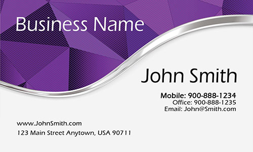 Purple Personal Business Card - Design #1201886