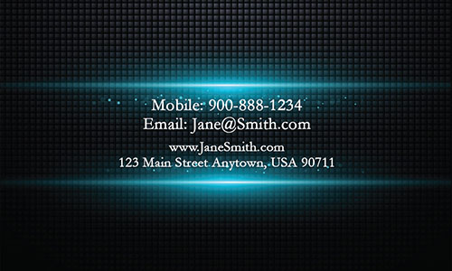 Blue Personal Business Card - Design #1201891