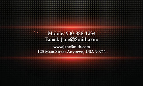 Red Personal Business Card - Design #1201893