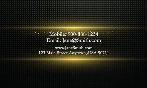 Yellow Personal Business Card - Design #1201894
