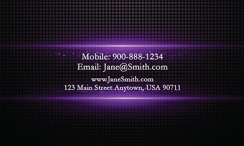 Purple Personal Business Card - Design #1201895