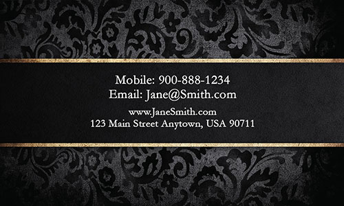 Gothic Vintage Visiting Business Card - Design #1201901