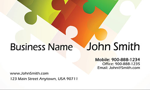 White Personal Business Card - Design #1201911