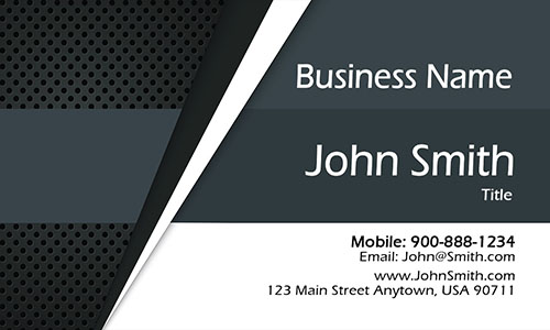 Gray Personal Business Card - Design #1201921