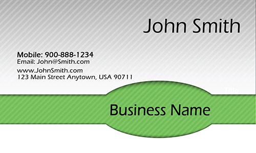 Green Personal Business Card - Design #1201931