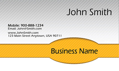 Yellow Personal Business Card - Design #1201932