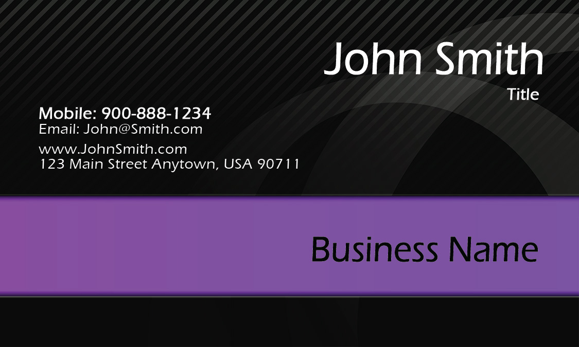 Black and Purple Accountant Business Card - Design #1201951