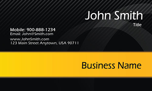 Black and Yellow Accountant Business Card - Design #1201955