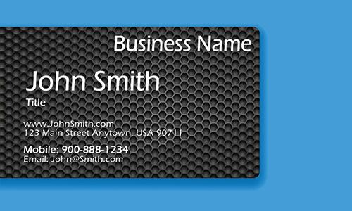 Blue Personal Business Card - Design #1201961