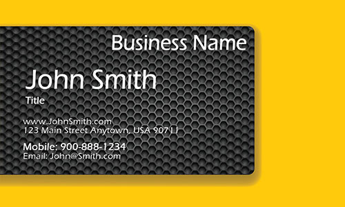 Yellow Personal Business Card - Design #1201963