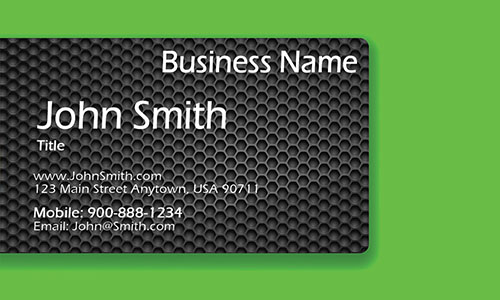Green Personal Business Card - Design #1201964