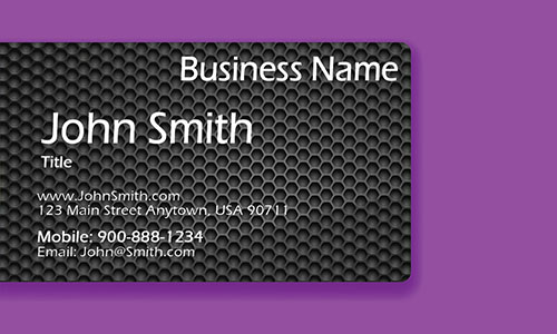 Purple Personal Business Card - Design #1201965