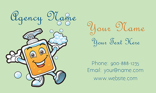 Green House Cleaning Business Card - Design #1301012