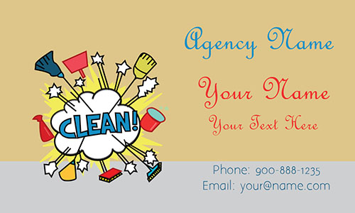 House Keeping Business Card - Design #1301023