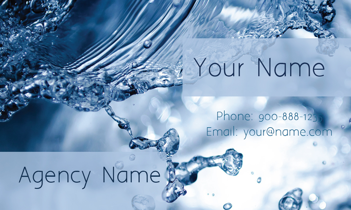 Blue House Cleaning Business Card - Design #1301031