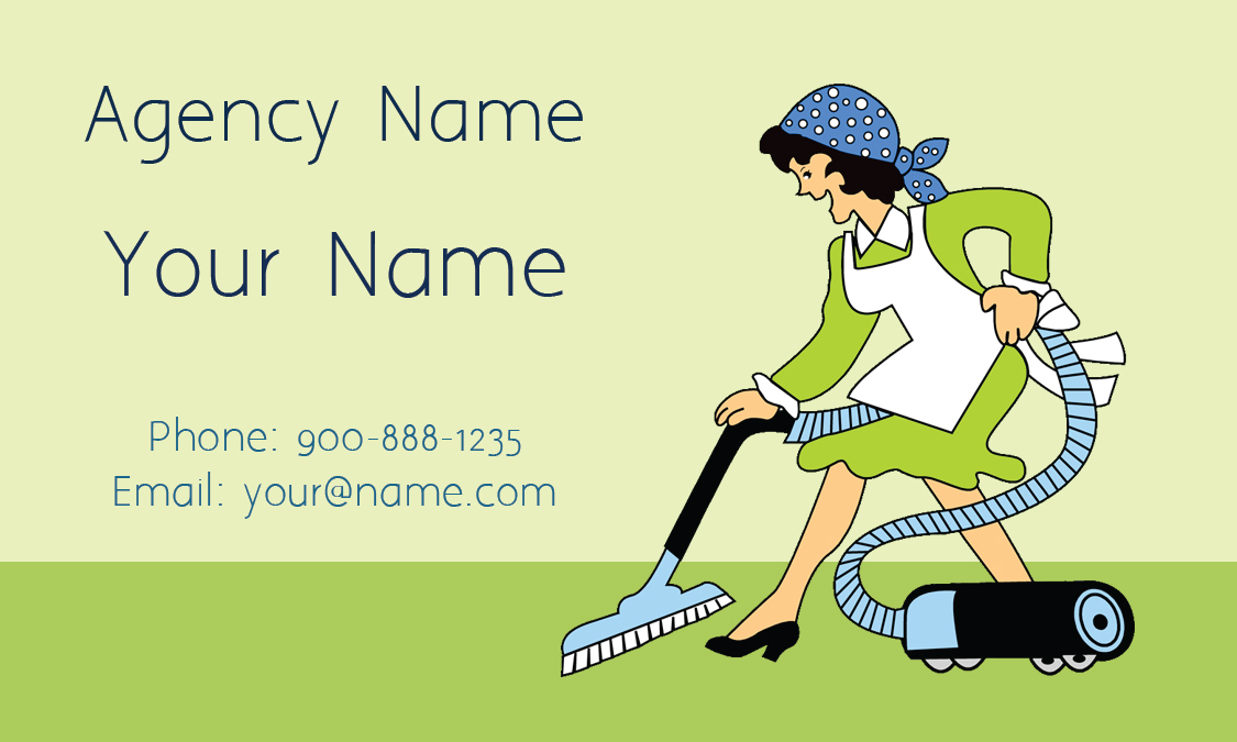 House Cleaning Business Card - Design #1301041