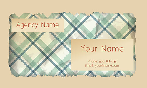 Blue House Cleaning Business Card - Design #1301061