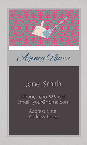 Gray House Cleaning Business Card - Design #1301091