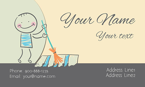 Maid Service White Business Card - Design #1301113