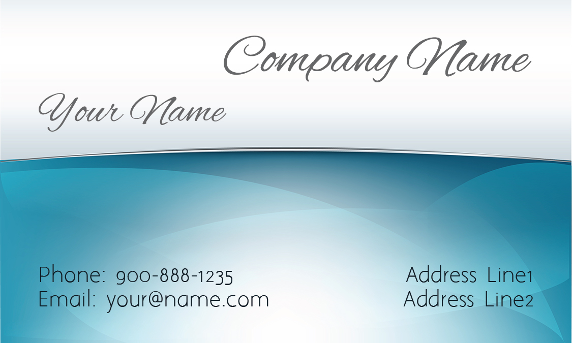 Blue House Cleaning Business Card - Design #1301121