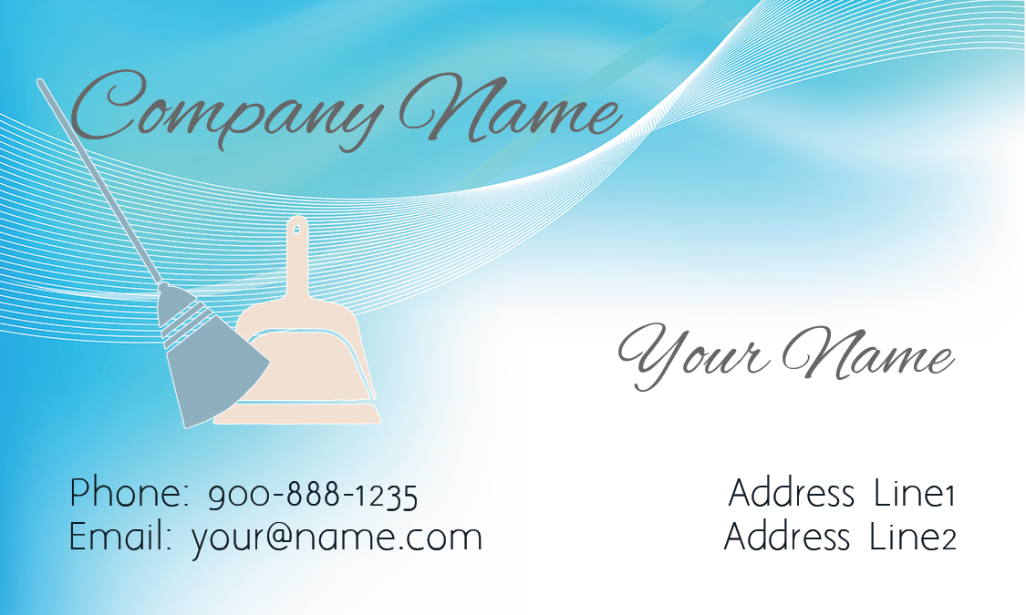 Mop And Broom Business Card