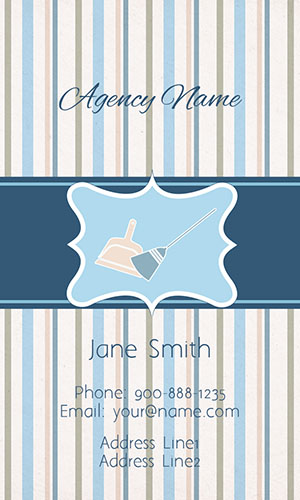 Blue House Cleaning Business Card - Design #1301142