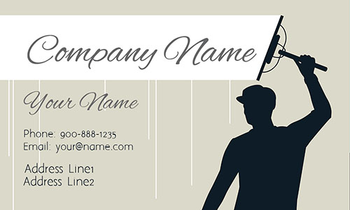 White Window Cleaning Business Card - Design #1303012