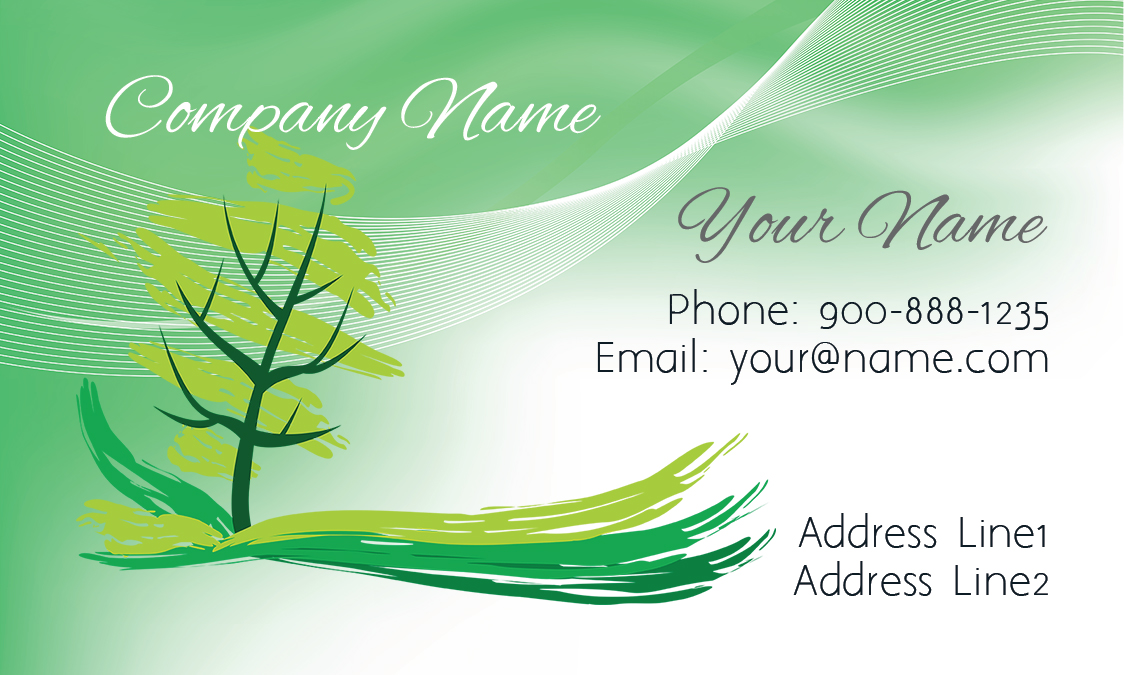 Tree Landscaping Business Card - Design #1304011