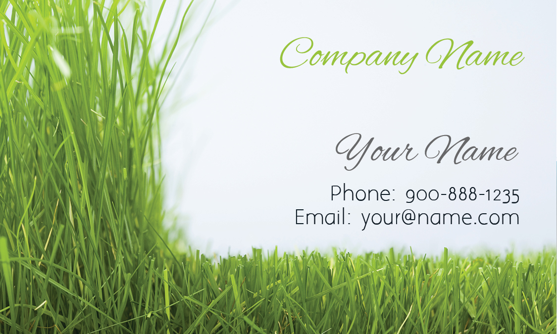 Gardener Business Card Design - Lawn care business cards templates free