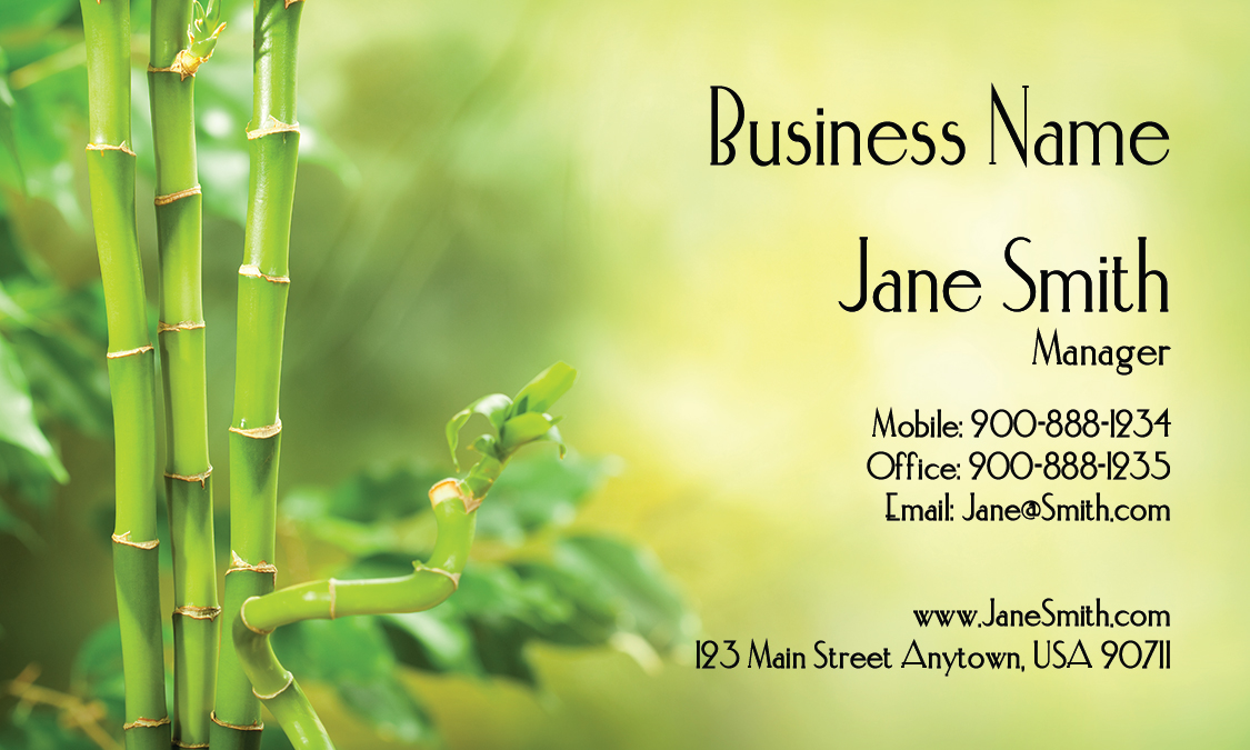 Gardener Bamboo Business Card - Design #1304031