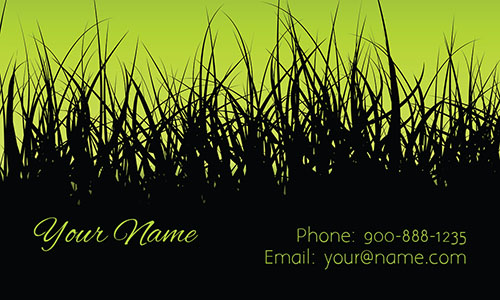 Lawn Service Black and Green Business Card - Design #1304041
