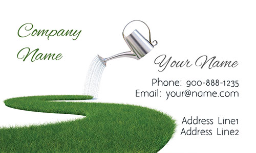 Lawn Service Grass Business Card - Design #1304051
