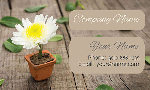 Professional Gardener Business Card - Design #1304061