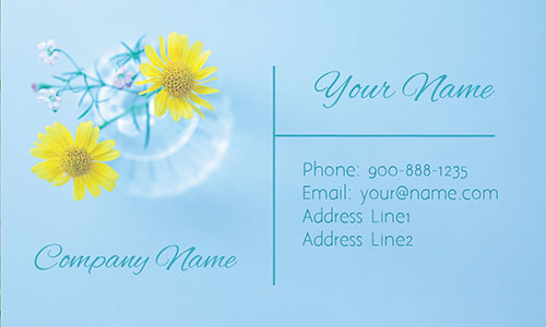 Chamomile Flower Business Card - Design #1304071