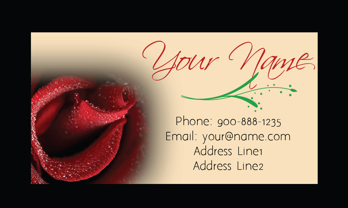 Rose Florist Business Card - Design #1304081