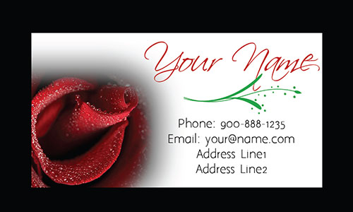Rose White Florist Business Card - Design #1304082