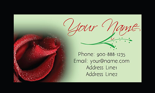 Red Rose Florist Business Card - Design #1304083