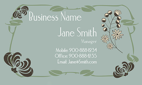 Flower Shop Business Card - Design #1304091