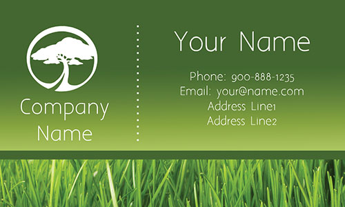 Tree Care Green Business Card - Design #1304111