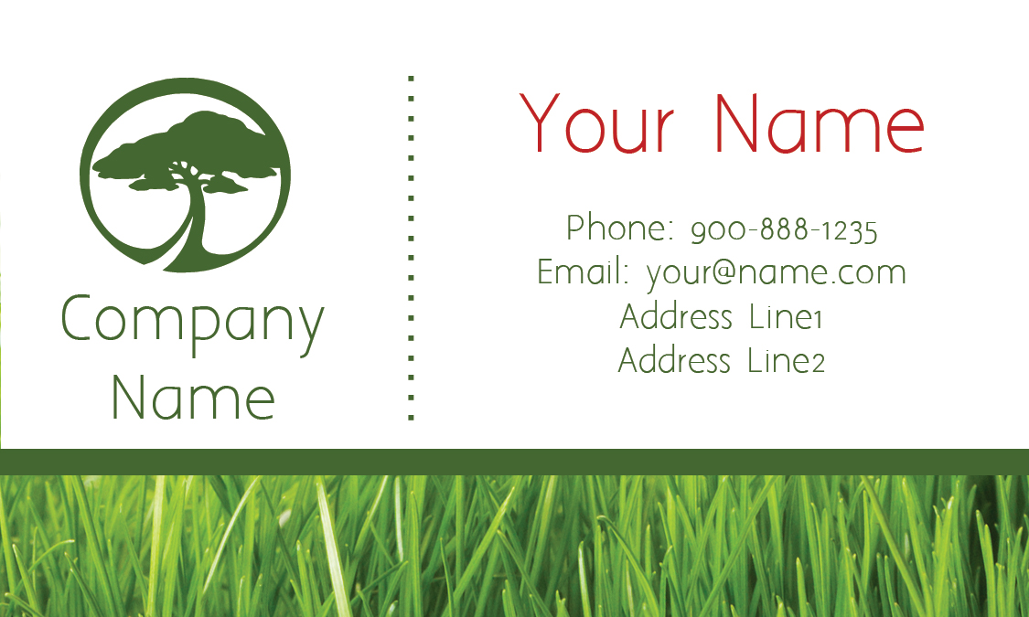 back tree care white business card tree care white business card ...