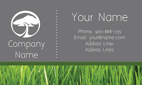 Tree Care Gray Business Card - Design #1304113
