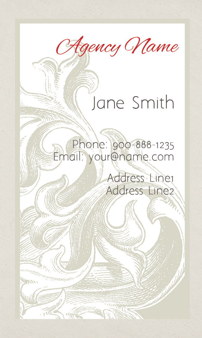 Vertical Flower shop Business Card - Design #1304121