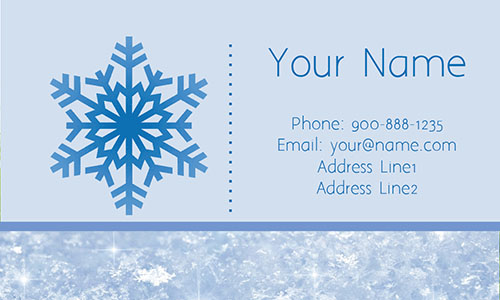 Blue Snowplowing Business Card - Design #1305011