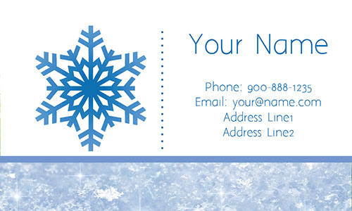 White Snowplowing Business Card - Design #1305012