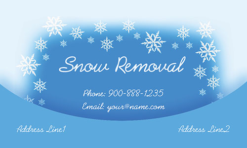 Blue Snowplowing Business Card - Design #1305021