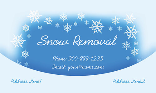 White Snowplowing Business Card - Design #1305022