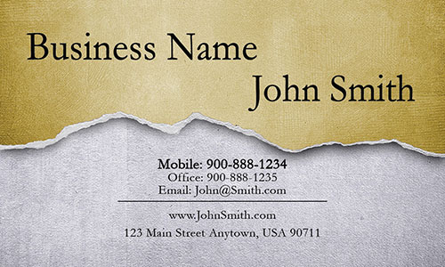 Yellow Architecture Business Card - Design #1401033