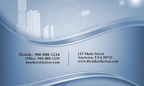 Blue Architecture Business Card - Design #1401093
